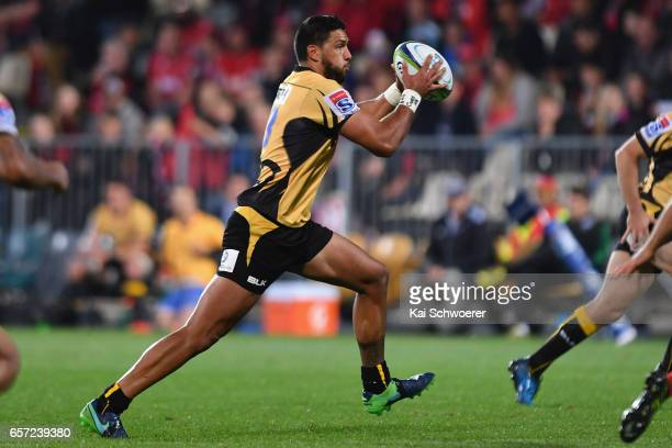 Curtis Rona of the Force charges forward during the round five Super Rugby match between the Crusaders and the Force at AMI Stadium on March 24 2017...
