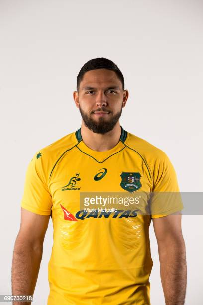 Curtis Rona poses for a headshot during the Australian Wallabies Player Camp at the AIS on April 9 2017 in Canberra Australia