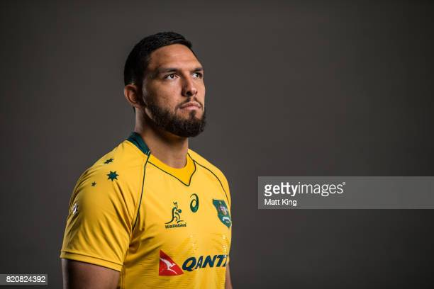 Curtis Rona poses for a headshot during the Australian Wallabies Player Camp at the AIS on April 11 2017 in Canberra Australia