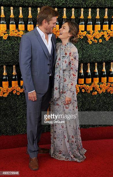 Curtis Stone and Lindsay Price arrive at the SixthAnnual Veuve Clicquot Polo Classic Los Angeles at Will Rogers State Historic Park on October 17...