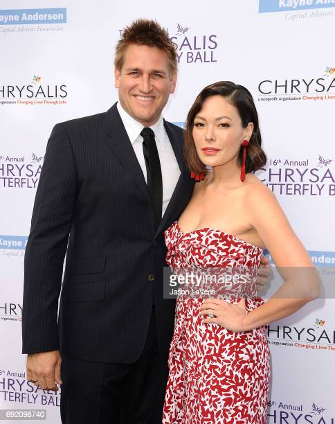 Curtis Stone and Lindsay Price attend the 16th annual Chrysalis Butterfly Ball on June 3 2017 in Brentwood California