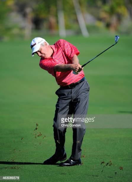 KA'UPULEHUKONA HI JANUARY 15 Curtis Strange during practice for the Mitsubishi Electric Championship at Hualalai Golf Club on January 15 2014 in...