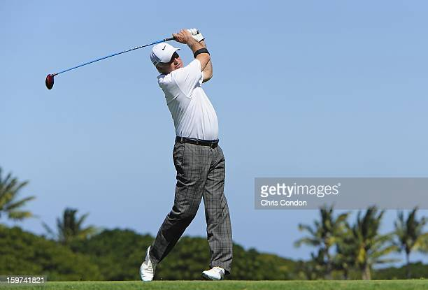 KA'UPULEHUKONA HI JANUARY 19 Curtis Strange plays from the second tee during the second round of the Mitsubishi Electric Championship at Hualalai...