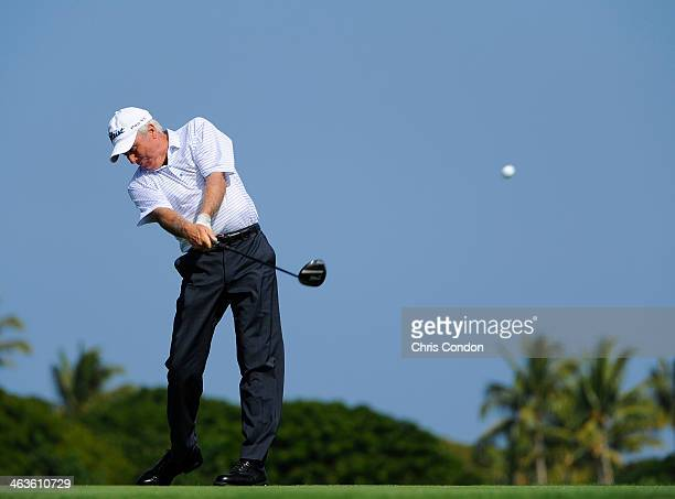 KA'UPULEHUKONA HI JANUARY 18 Curtis Strange plays from the second tee during the second round of the Mitsubishi Electric Championship at Hualalai...