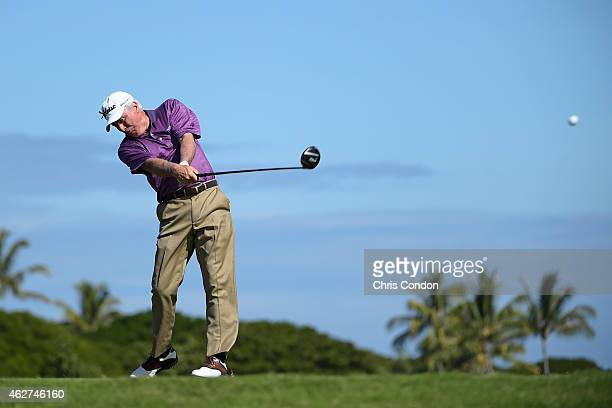 KA'UPULEHUKONA HI JANUARY 24 Curtis Strange tees off on the second hole during the second round of the Champions Tour Mitsubishi Electric...