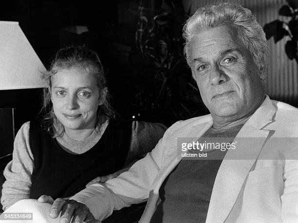 Curtis Tony *Schauspieler USA mit der Schauspielerin Katharina Thalbach August 1987
