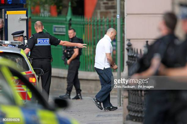 Curtis Warren from Liverpool arrives at The Royal Court in St Hellier Jersey where he is accused alongside six other men over an alleged 1m drug...