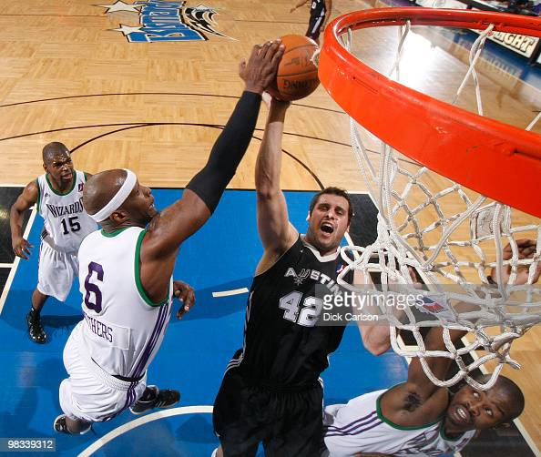 Curtis Withers of the Dakota Wizards blocks Luke Bonner of the Austin Toros during their NBA DLeague round 1 playoff game April 8 2010 at the...