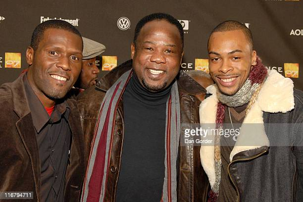 Curtiss Cook Isiah Whitlock Jr and Jas Anderson during 2007 Sundance Film Festival 'Weapons' Premiere at Racquet Club Theater in Park City Utah...