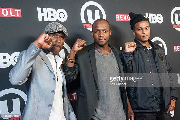 Curtiss Cook Qasim Basir and Cory Hardrict of the movie Destined attend the 2016 Urbanworld Film Festival at AMC Empire 25 theater on September 23...