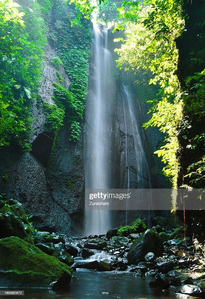 Curug Nangka Waterfall, Indonesia : Stock Photo
