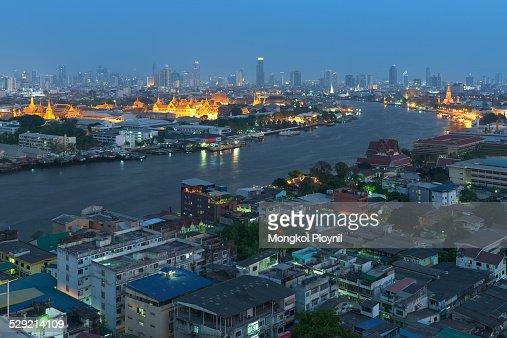 Curve of Chao Phraya river