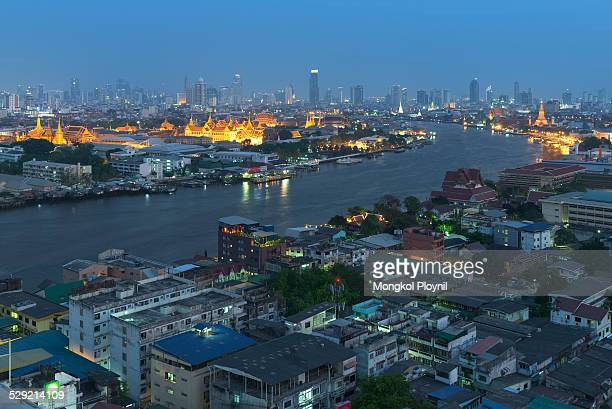 Curve of Chao Phraya river