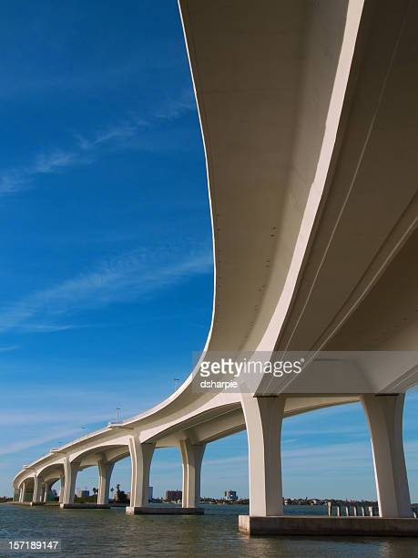 Curved Bridge Overpass over the water
