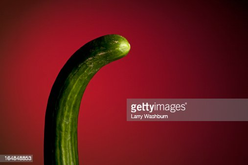 A curved cucumber suggestive of a penis