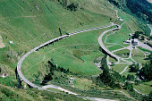 Curved highway on mountainside