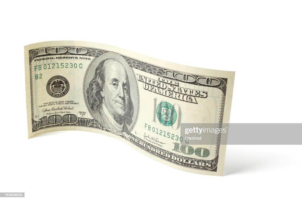 Curved Hundred Dollar Bill