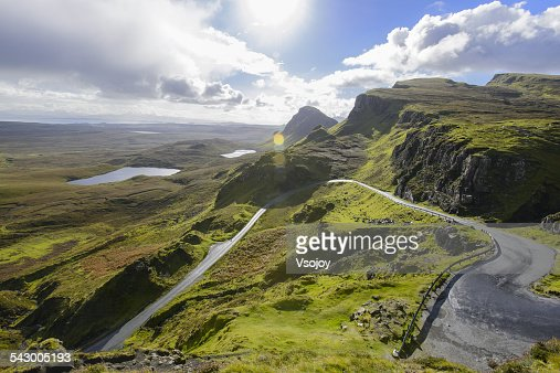 Curved road and natural landscape Quiraing