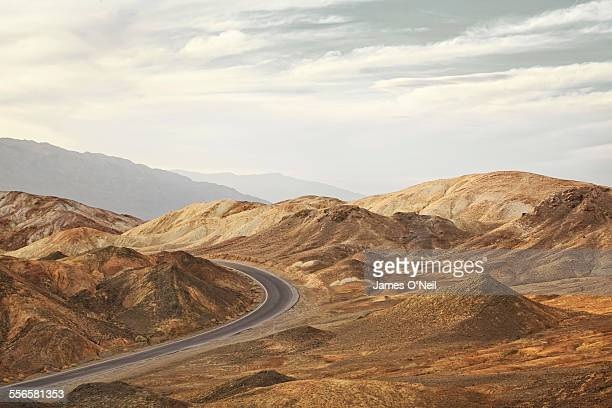 curved road in rocky landscape