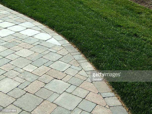 Curved Stones and Grass