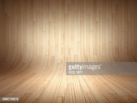 Curved wooden background : Stock Photo