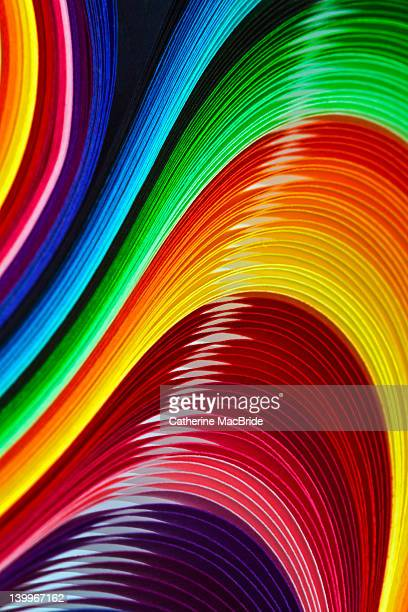 Curves of colored paper