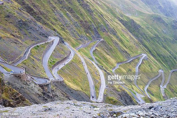 Curvy road of Stelvio Pass