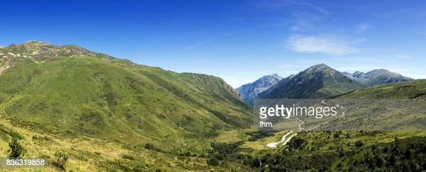 Curvy road through the Pyrenees in Andorra
