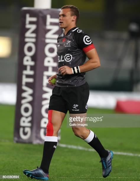 Curwin Bosch of the Cell C Sharks during the Super Rugby match between Cell C Sharks and Vodacom Bulls at Growthpoint Kings Park on June 30 2017 in...