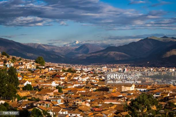 Cusco Peru with Oongate Mountain in the distance