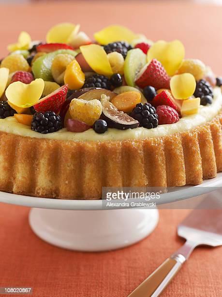 Custard Cake with Fruit