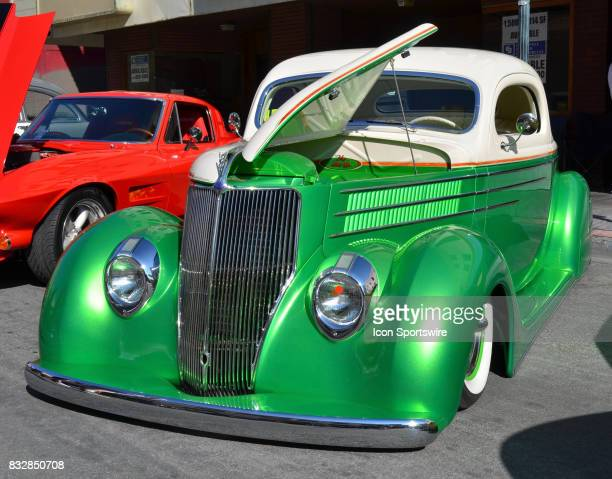 Custom 1936 Ford 3window coupe on display at the Hot August Nights Custom Car Show the largest nostalgic car show in the world on August 11 2017 held...