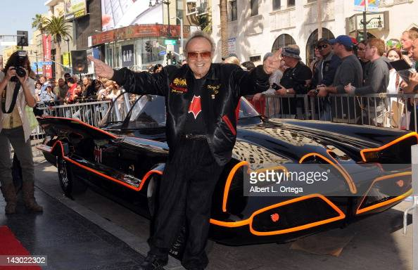 Custom car collector George Barris at the Adam West Star ceremony on the Hollywood Walk of Fame on April 5 2012 in Hollywood California