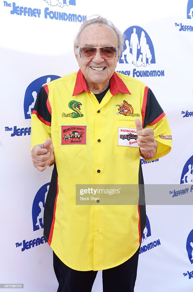 Custom car designer <a gi-track='captionPersonalityLinkClicked' href=/galleries/search?phrase=George+Barris+-+Car+Designer&family=editorial&specificpeople=560096 ng-click='$event.stopPropagation()'>George Barris</a> attends the red carpet and building renaming celebration reception at Jeffrey Foundation Main Building on October 14, 2014 in Los Angeles, California.
