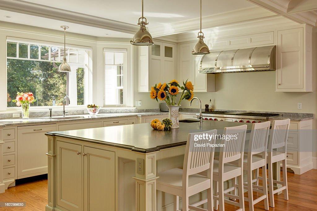 Custom designed residential kitchen : Stock Photo