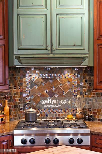 Custom Kitchen Backsplash and Cabinets