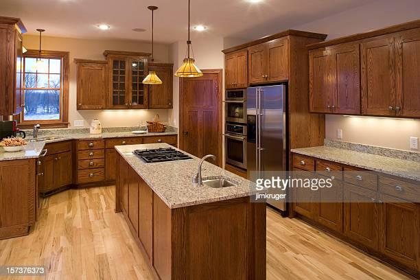 Custom kitchen.