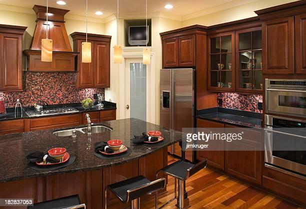 Custom kitchen with modern decor.