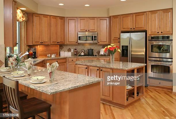 Custom maple kitchen.