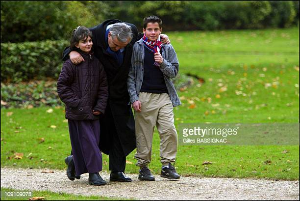 Customary Tree Planting Ceremony For French Prime Minister JeanPierre Raffarin In The Gardens Of Matignon On December 14Th 2002 In Paris France With...