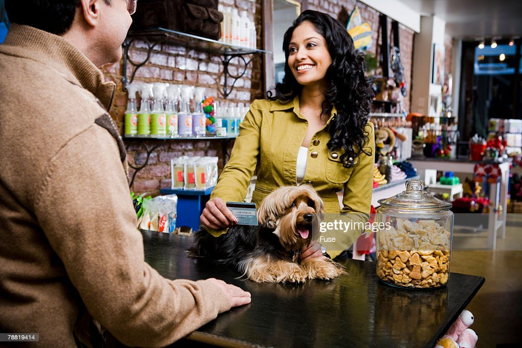 Customer at Pet Shop