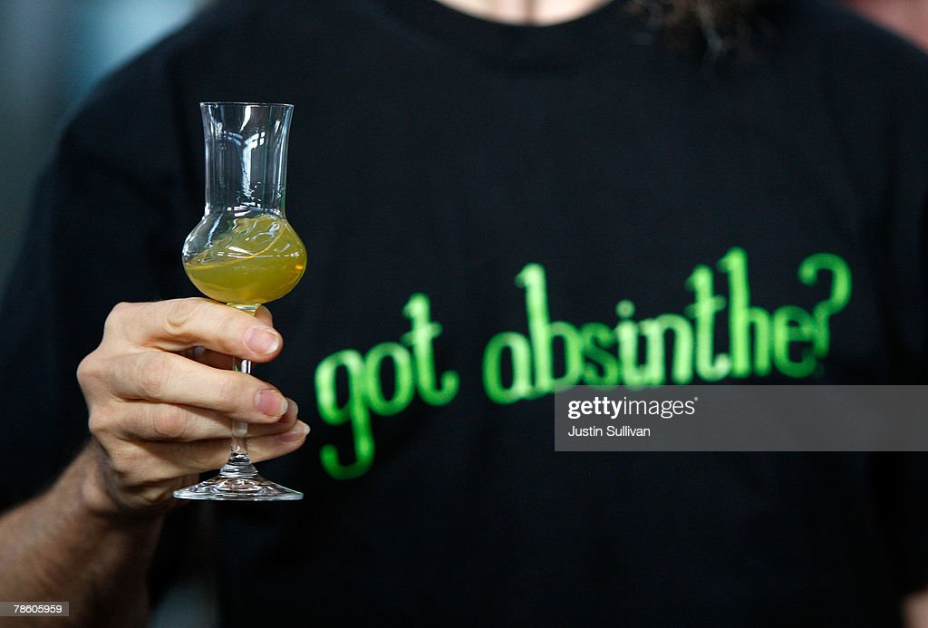 A customer at St George Spirits tastes the new St George Absinthe Verte December 21 2007 in Alameda California St George Spirits became the first...