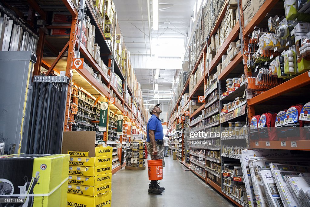 Inside A Home Depot Inc Store Ahead Of Earnings Figures