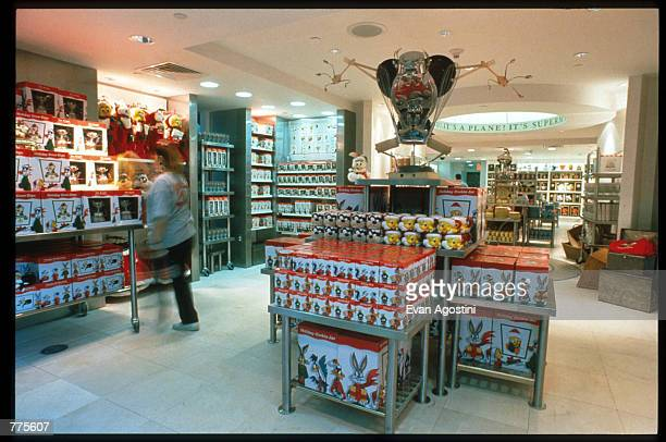 A customer browses through Looney Tunes merchandise at the Warner Bros Studio store October 23 1996 in New York City The store originally a three...
