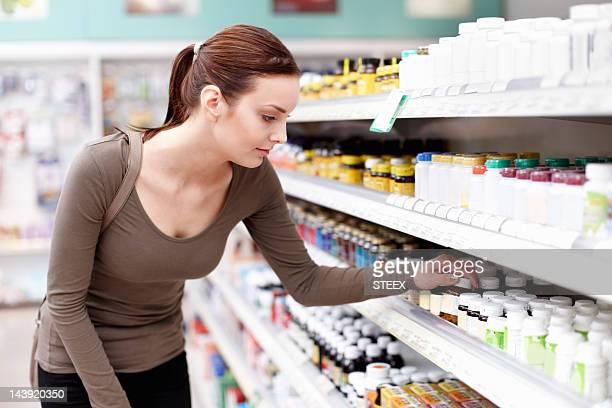 Customer buying medicine