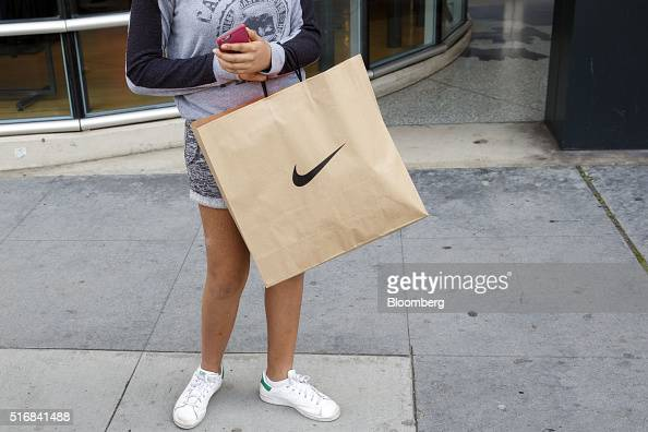 A NikeTown Store Ahead Of Earnings Figures Photos and Images ...