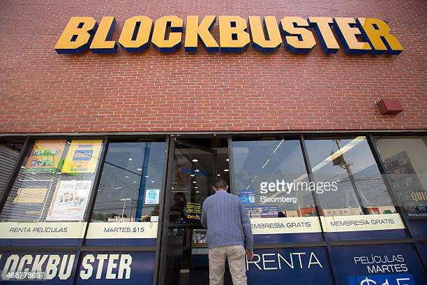 A customer enters a Blockbuster store in the Colonia del Valle neighborhood of Mexico City Mexico on Friday Jan 24 2014 Though the last Blockbuster...