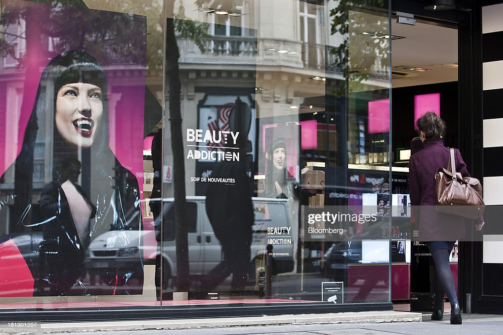 A customer enters a Sephora SA beauty store in Paris, France, on Thursday, Sept. 19, 2013. Bank of France General Council member Bernard Maris said France will end up restructuring its debt as tax 'optimization' by large companies including Google Inc. will leave too big a burden on the middle class. Photographer: Balint Porneczi/Bloomberg via Getty Images