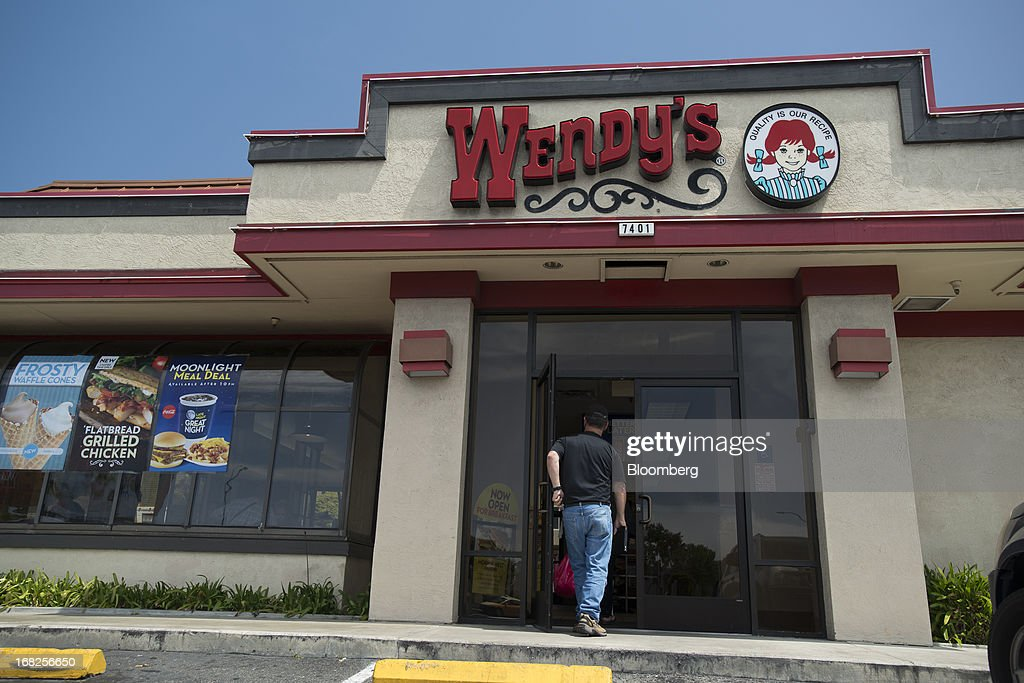 A customer enters a Wendy's Co. restaurant in Daly City, California, U.S., on Tuesday, May 7, 2013. Wendy's Co. is expected to release earnings data on May 8. Photographer: David Paul Morris/Bloomberg via Getty Images