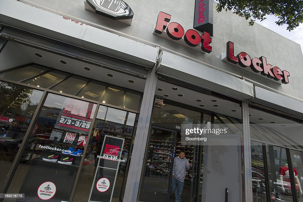 A customer exists a Foot Locker Inc. store in San Francisco, California, U.S., on Tuesday, March 5, 2013. Foot Locker Inc. is expected to release earnings data on March 8. Photographer: David Paul Morris/Bloomberg via Getty Images